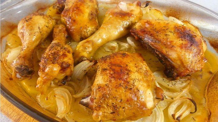 Pollo al horno sin aceite