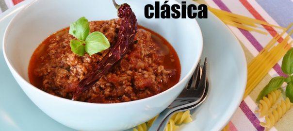 receta de salsa boloñesa clásica