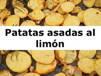 Patatas asadas al limón
