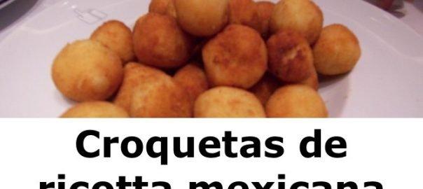 Croquetas de ricotta mexicana