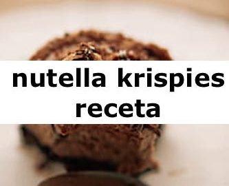 receta de nutella krispies