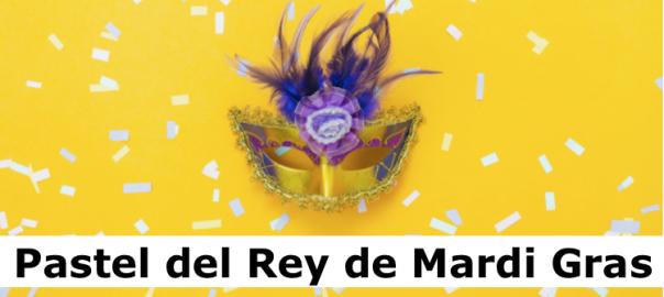Pastel del Rey de Mardi Gras