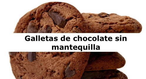 Galletas de chocolate sin mantequilla