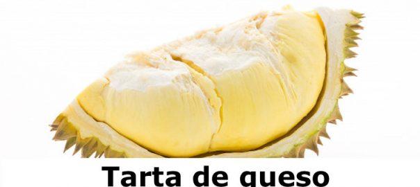 Tarta de queso con puré de Durian